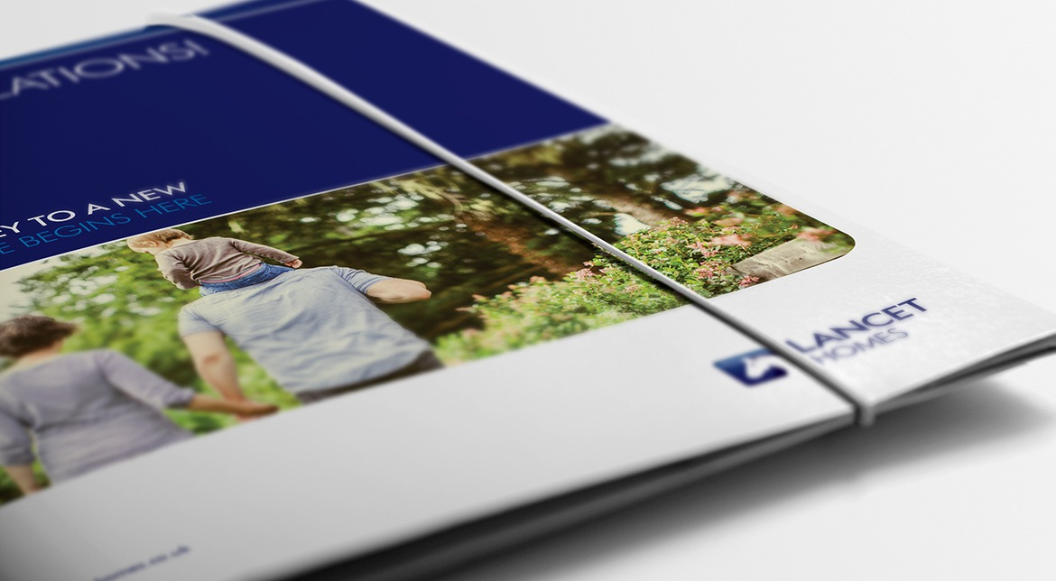 Lancet Homes Folder | Property Branding
