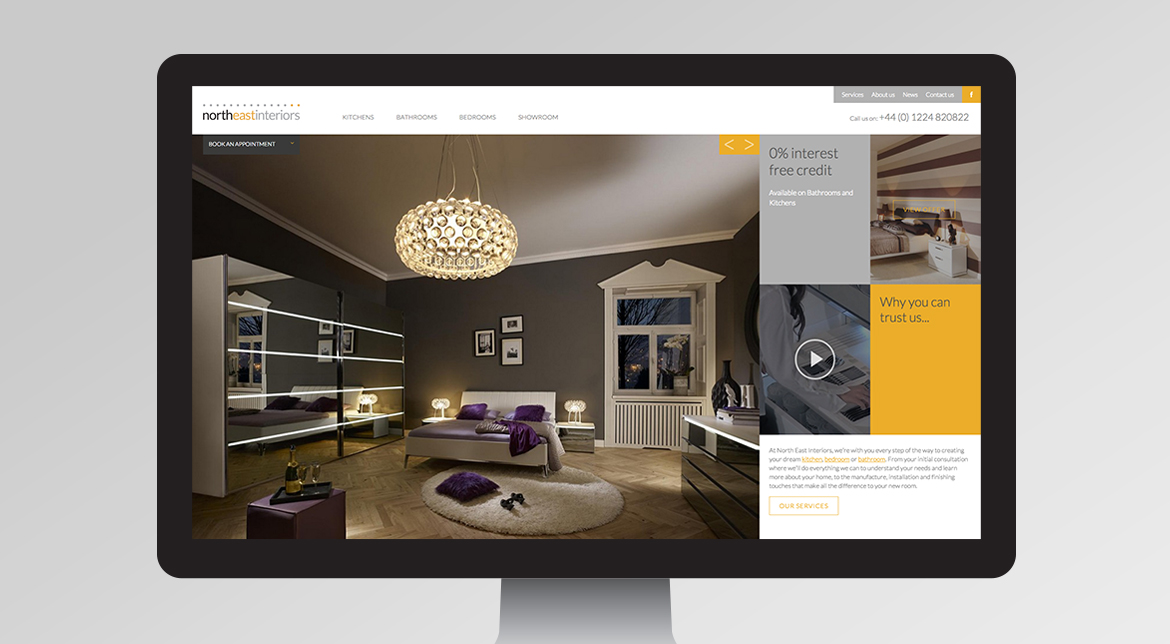 North East Interiors Responsive Website