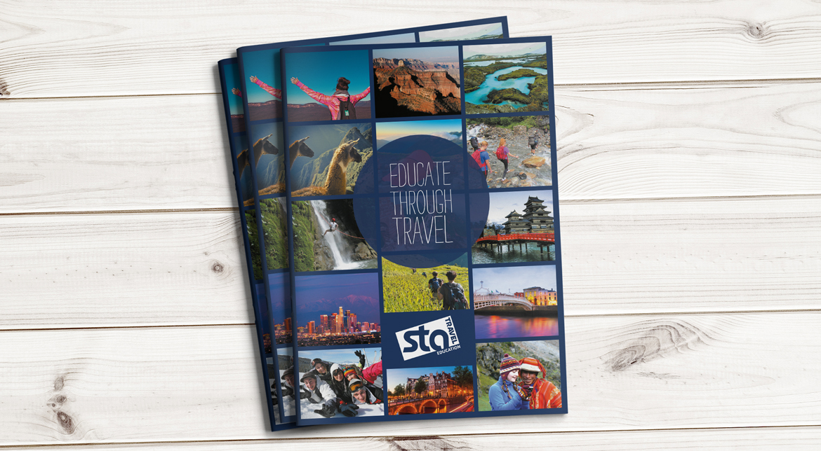STA Travel Education Brochure Design