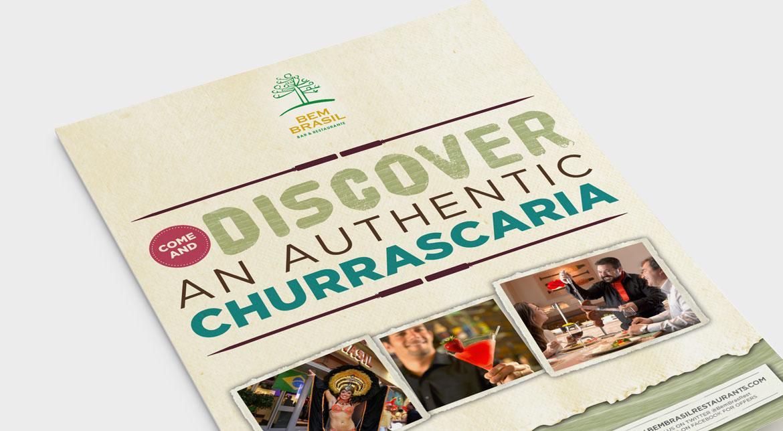 Bem Brasil Branding - Leaflet design with new brand identity