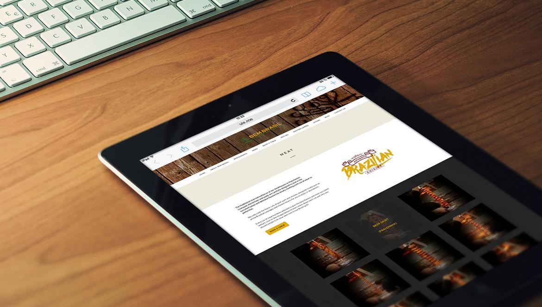 Bem Brasil website on tablet