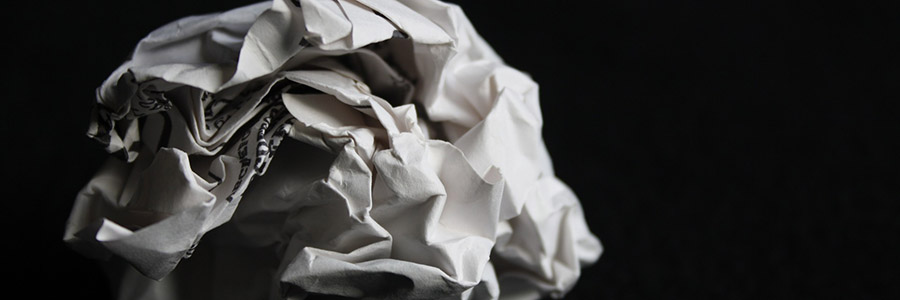 Content Ideas screwed up paper ball
