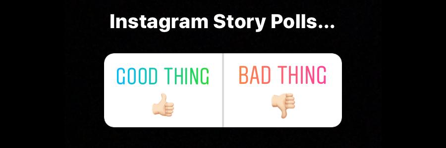 instagram story polls