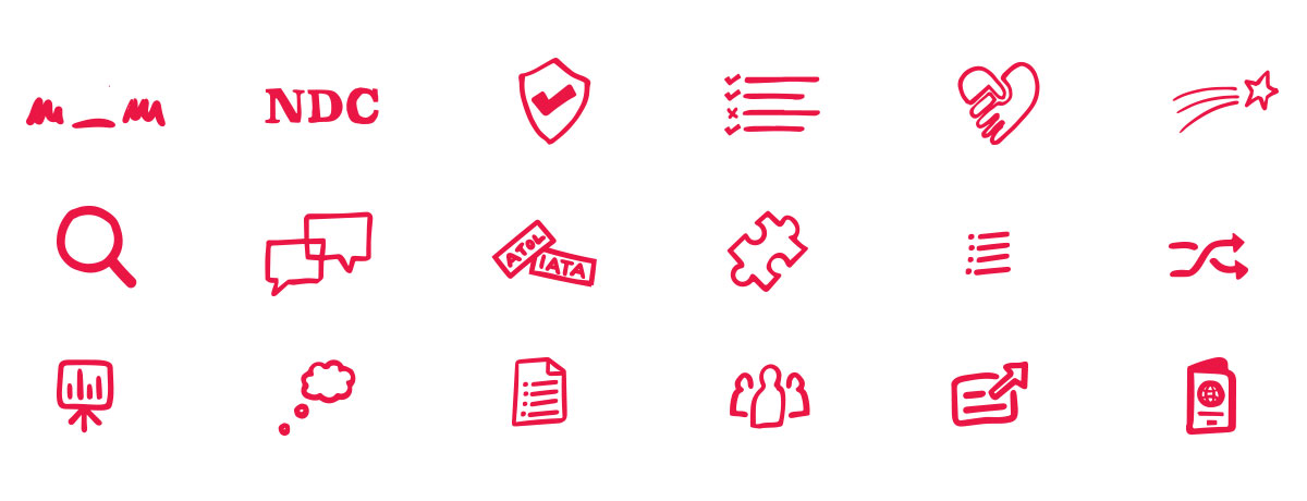 Diversity Travel Icon Set